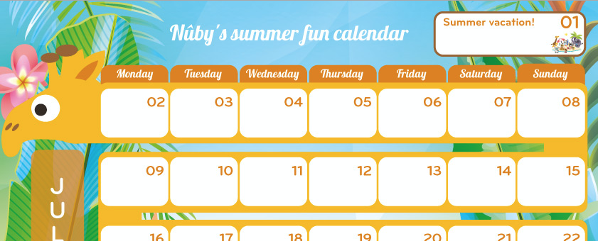 Start getting excited about those holiday plans with the Nûby calendar!