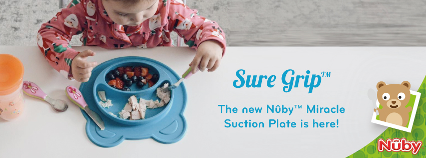Our Sure Grip Miracle Suction plates: they stick with you!